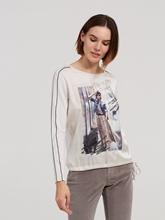 Image sur Shirt mélange de matières et imprimé