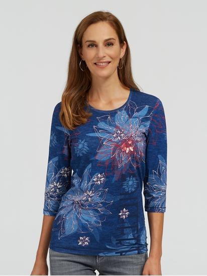 Image sur Shirt manches longues imprimé EDDA