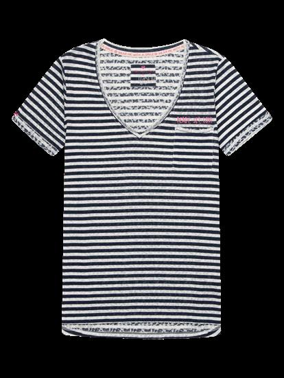 Bild von T-Shirt it Streifen und Print