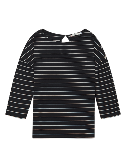 Bild von Oversized Langarmshirt mit Streifen