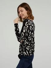 Image sur Shirt imprimé léopard et noeud
