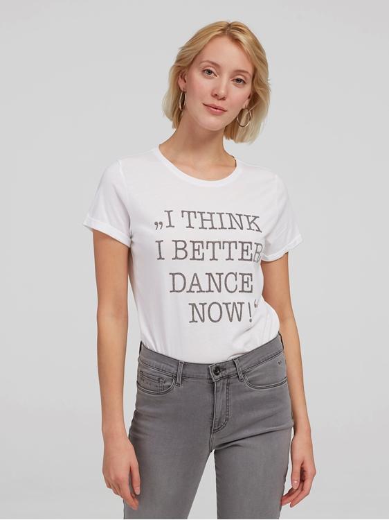 Image sur T-shirt avec inscription