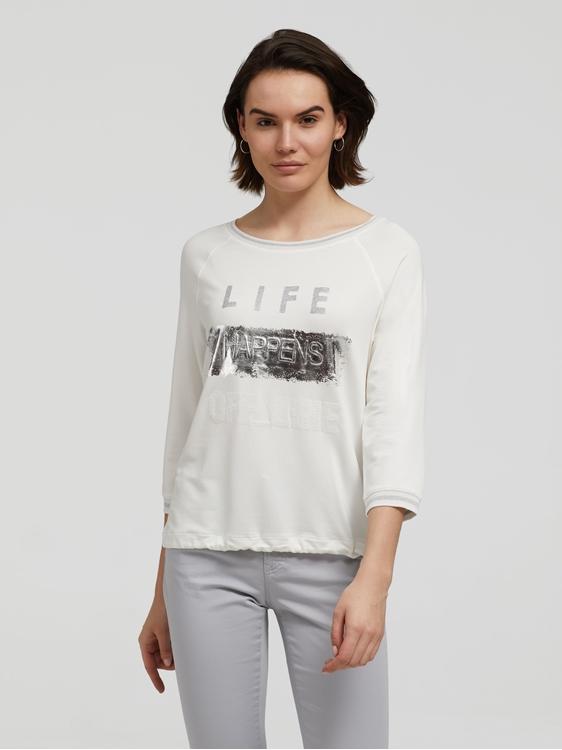 Bild von Shirt mit Print und Tunnelzug