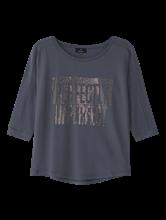 Image sur T-shirt avec paillettes