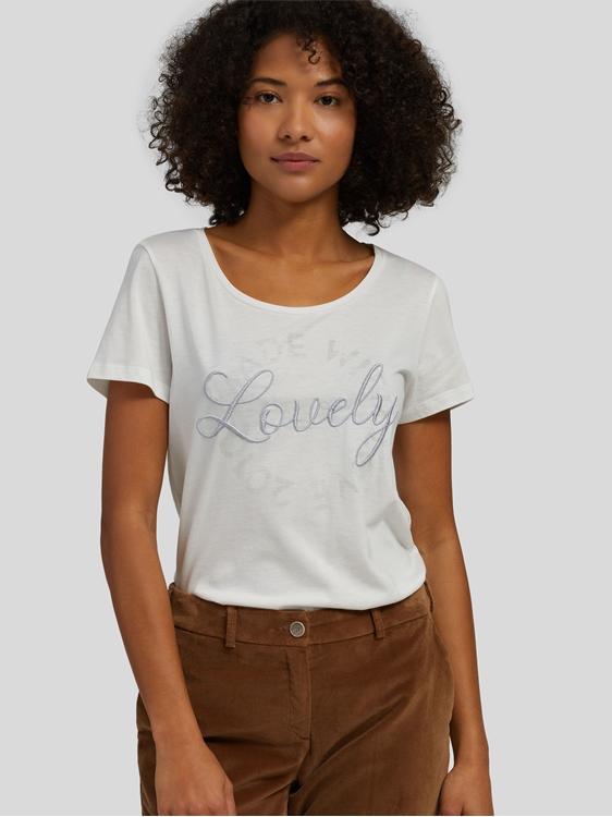 Image sur Shirt avec écriture brodée et imprimé