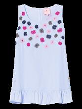 Bild von Blusentop mit Streifen und Blumenstickerei