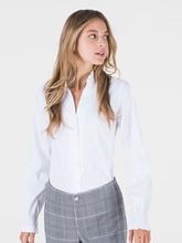 Bild von Bluse mit Stehkragen und Rüschen