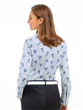 Bild von Bluse mit Blumen-Print und Streifen