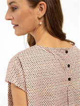 Bild von Oversized Blusenshirt mit Micro-Print