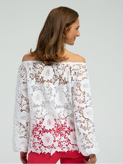 Bild von Bluse aus Spitze mit Carmen-Ausschnitt