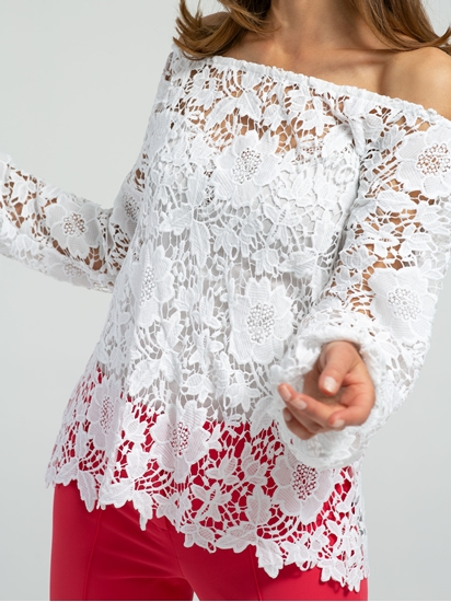 Image sur Blouse dentelles épaules dénudées