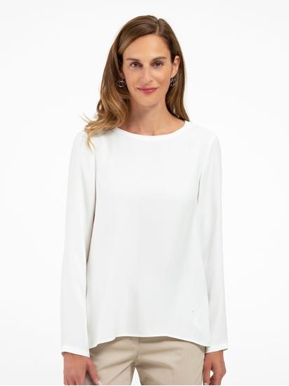 Bild von Bluse mit Plissee am Rücken