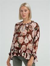 Image sur Bluse mit Blumen-Print und Voalnt