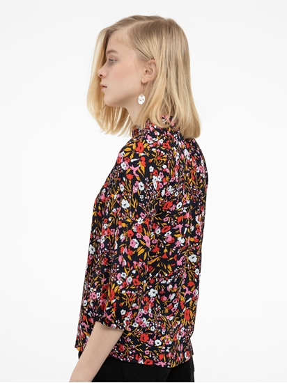 Bild von Oversized Bluse mit Blumen-Print