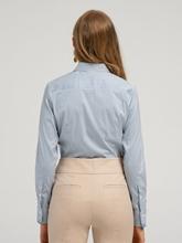 Bild von Bluse mit Streifen und Ausputz