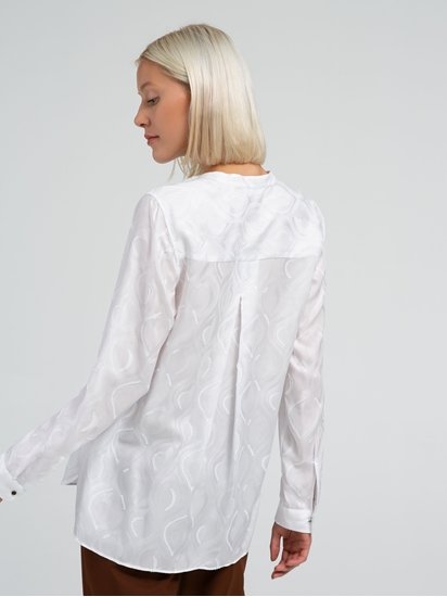Image sur Bluse mit Jaquard-Muster und Flock-Print