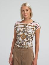 Image sur T-Shirt aus Seide mit Print