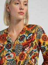 Bild von Bluse aus Seide mit Blumen-Print