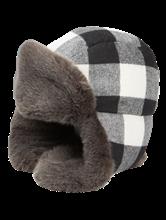 Image sur Mütze mit Karo-Muster und Fellimitat