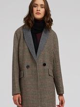Image sur Manteau laine double boutonnage à carreaux