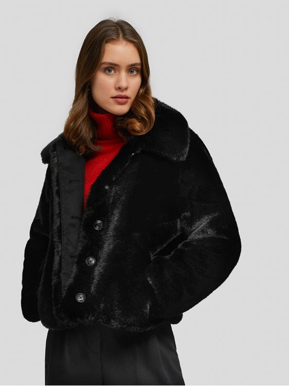 Image sur Short Faux Fur Coat