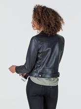 Image sur Veste en cuir style motard
