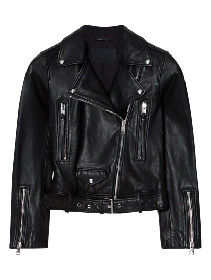 Image sur Veste cuir style motard