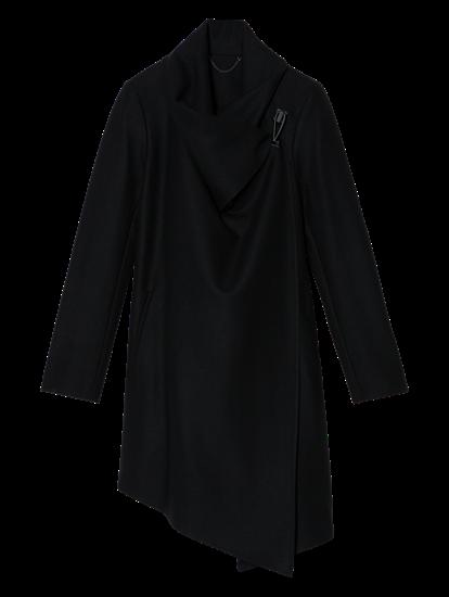 Image sur Manteau laine coupe asymétrique