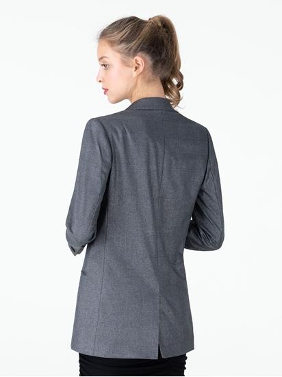 Image sur Blazer double boutonnage oversize à carreaux et lurex