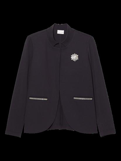 Image sur Blazer jersey avec broche