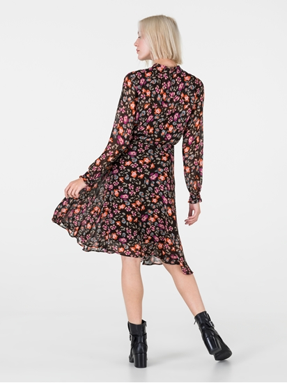 Bild von Kleid mit Print und Tunnelzug