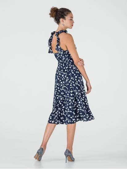 Bild von Kleid mit Blumen-Print und Rüschen