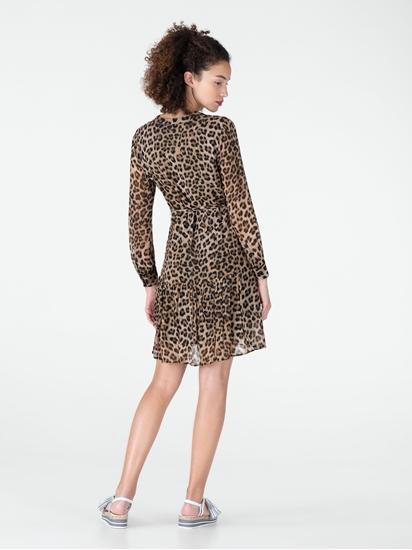 Bild von Kleid mit Leo-Print und Bindegürtel