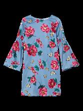 Bild von Kleid mit Blumen-Print und Volant am Ärmel