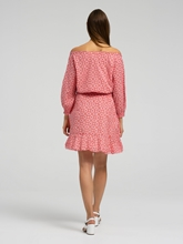 Bild von Kleid mit Carmen-Ausschnitt und Print