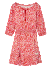 Image sur Robe épaules dénudées et imprimée