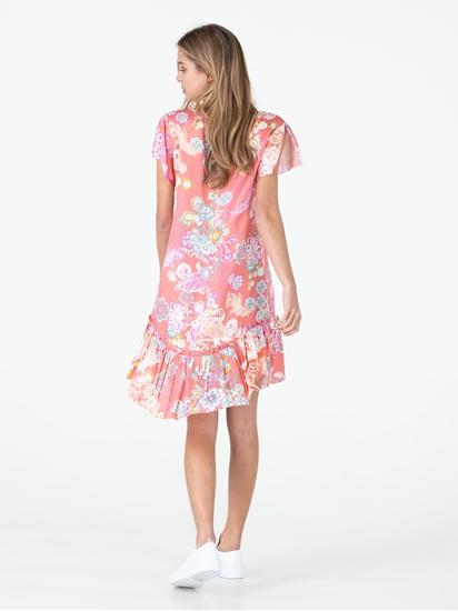 Bild von Kleid mit Print und Schösschen