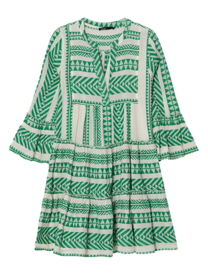 Bild von Tunika Kleid mit Volants und Ethno-Muster