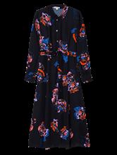 Bild von Kleid mit Print und Bindegürtel