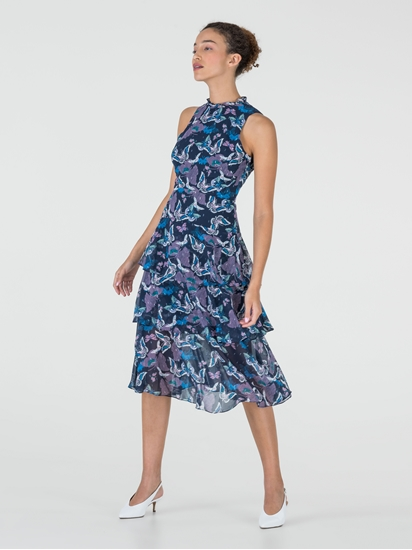 Bild von Kleid mit Print und Volant