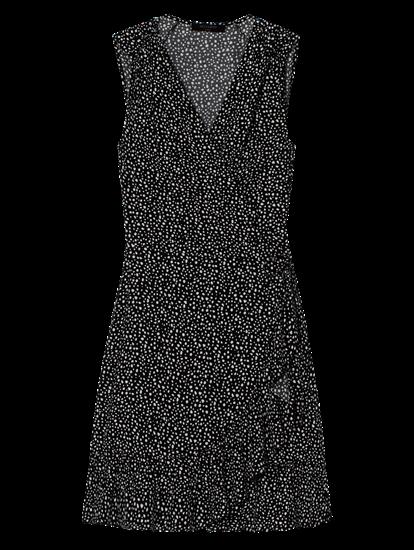 Image sur Robe portefeuille imprimée avec volant