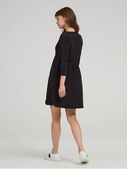 Bild von Kleid aus Material-Mix mit Lochstickerei