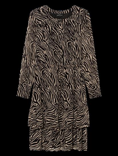 Bild von Kleid mit Zebra-Print und Volants