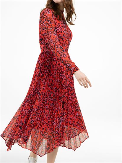 Image sur Robe avec plissé et imprimé léopard