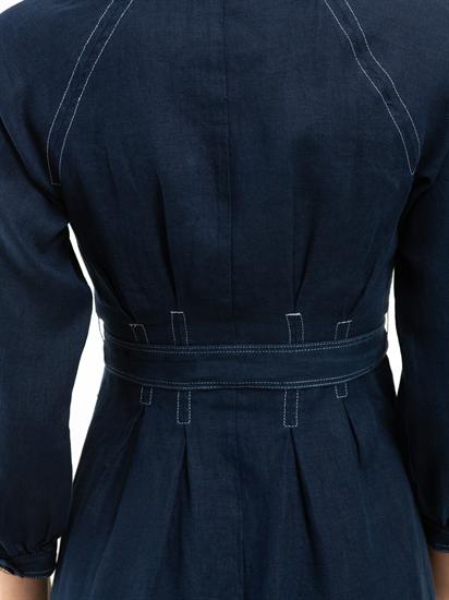 Bild von Kleid aus Leinen mit Schleife