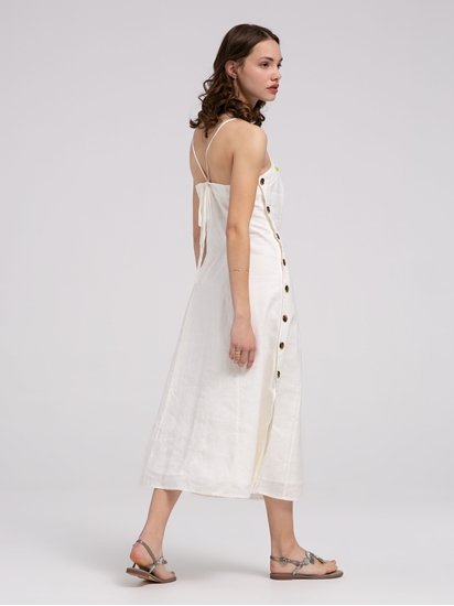 Bild von Kleid aus Leinen mit Knöpfen NINA