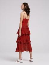 Bild von Kleid mit Volant und Leo-Print