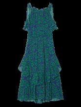 Image sur Robe avec imprimé et volants