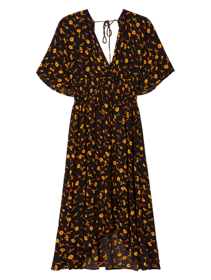 Image sur Robe style portefeuille avec imprimé fleuri