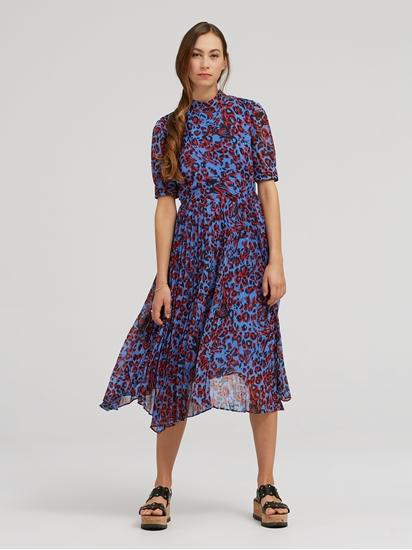 Bild von Kleid mit Plissee und Leo-Print